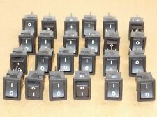 AVIATION AIRCRAFT ROCKER SWITCHES, LOT OF 24, ARCOLECTRIC 2PST, SPADE CONNECT,