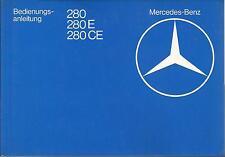 Mercedes clase e c123 coupé manual de instrucciones de 1980 manual 280 280 CE ba