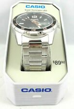 Casio Illuminator Mens Watch Stainless Band 100M WR Free Expedited Shipping