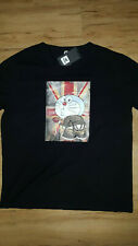 XRAY Jeans Union Jack Doraemon Logo T-Shirt Men Size 2XL xxl bLACK graphic tee