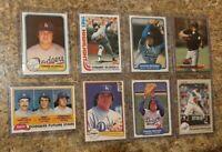 (8) Fernando Valenzuela 1981 1982 Topps Fleer Donruss Rookie Card Lot RC Dodgers