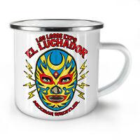El Luchador Wrestler NEW Enamel Tea Mug 10 oz | Wellcoda
