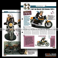 #jbt02.002 ★ DUCATI 350 DESMO 1975 & le personnage TED ★ Joe Bar Team Fiche Moto