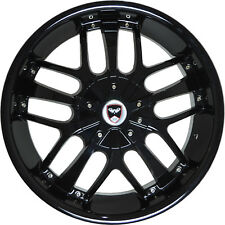 4 GWG SAVANTI 18 inch Black Rims fits NISSAN 350Z 2002 - 2008