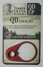 TIMBER CREEK OUTDOORS QUICK DETACH END PLATE - ANODIZED RED - QD EP