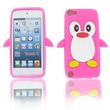 Pink Penguin Soft Gel Silicone Skin Case Cover for Apple iPod Touch 5 6 +Screen