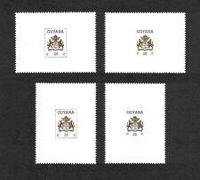 Guyana 1985/7 Arms 2 sets (4v.) (SG 1535b (vert. & horiz. versions); 2183-4) MNH