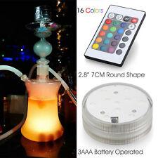 Qualität Großes Glas Shisha Hookah mit 16 Farben LED-Leuchten Silikon Schlauch