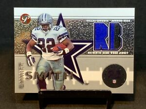 """EMMITT SMITH SP """"PRIME"""" 2-COLOR DUAL PATCHES~2002 TOPPS PRISTINE (RUN w/HISTORY)"""