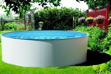 Simplicity 18 ft Round Above Ground Pool with Liner and Skimmer Salt Friendly