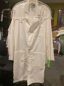 Landau Men's 3-Pocket Full-Length Lab Coat #3145 White Size 38