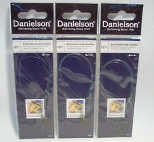 3 Packages Danielson Size12 Snelled Baitholder Fishing Hooks Crappie Trout