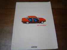 Catalogue publicitaire Fiat 131 Mirafiori 36 pages brochure dépliant