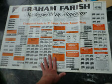 N gauge poster with prices Model railway Graham Farish 1978 Bottomley trains