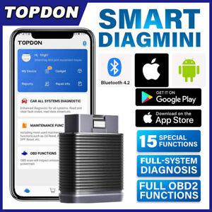 Full System Bluetooth OBD2 Scanner ABS EPB SAS SRS DPF Reset Car Diagnostic Tool