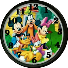 Mickey Minnie Daisy Gang Clock Nursery Decor Wall Decor Kids Room Playroom