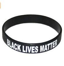 1PC Black Lives Matter Silicone Wrist Band Bracelet Wristband