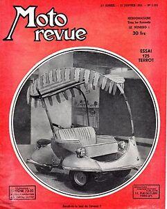 MOTO REVUE 1121 essai 125 TERROT TAXI DE L'AVENIR JANVIER 1953