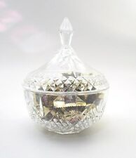 Crystal Candy Dish with Lid - Clear Cut Glass
