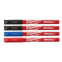 Milwaukee 48-22-3165 4 Pack INKZALL Color Ultra Fine Point Pens