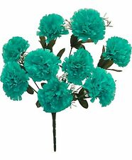 9 Carnations Bush ~ MANY COLORS ~ Centerpieces Silk Wedding Flowers Bouquets