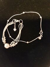 Sterling Silver Bracelet and Anklet.