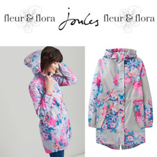 JOULES Poncho Waterproof Pac Away Navy Floral  One Size Festivals FreeUKP/&P