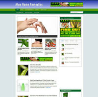 ALOE HOME REMEDIES AFFILIATE WEBSITE WITH STORE + FREE HOSTING & DOMAIN