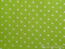 Tissu En Coton Ecotex Petits pois à pois vert clair vert