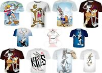 Looney Tunes Warner Bros Bugs Bunny And Taz Animated TV Series T-Shirt 3D Print