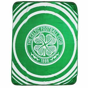 Giant Celtic FC Football Crest Fleece Blanket/Sofa Throw (125cm x 150cm)