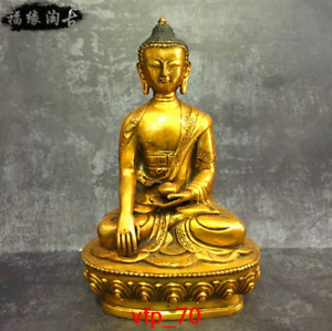 China Tibet antique Pure copper Sakyamuni Buddha statue Z317