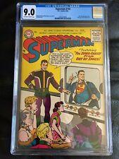 SUPERMAN #104 CGC VF/NM 9.0; OW-W; Mr. Mxyzptlk app. (3/56)! rare!