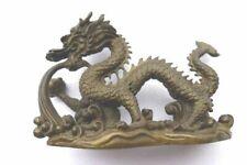 Antique japanese okimono lifelike dragon ornament