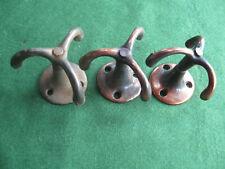 More details for 3 x vintage triple arm prong swivel ceiling hooks / wardrobe hooks