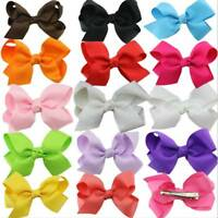 20 Pcs Girls Baby Kid Hair Bows Hairpin Alligator Princess Ribbon Clip Grosgrain