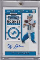 Ty Johnson 2019 Contenders Rookie Ticket Rc Auto
