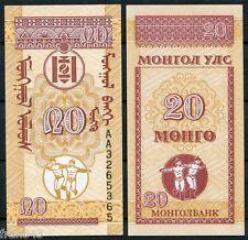 MONGOLIA 20 Mongo 1993 Pick 50 SC  / UNC