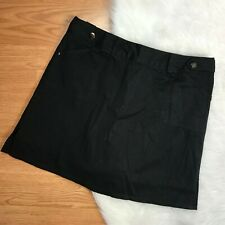 Bamboo Traders Womens Size 10 Black Skort