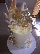 Custom Cake Topper Happy Retirement Any Name Gold Glitter Any Colour Free UK P&P