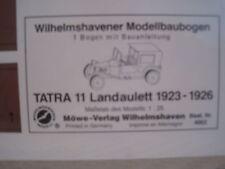 Tatra 11 Landaulett 1923 Wilhelmshavener Modellbaubogen Kartonmodel Bastelbogen