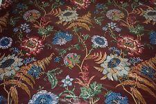 Vintage floral CHINTZ ARDSLEY - Burgundy Ground Large Scale Pattern Sold by yard