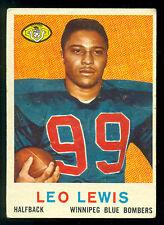 1959 TOPPS CFL FOOTBALL #3 LEO LEWIS RC WINNIPEG VG-EX BLUE BOMBERS LINCOLN UNIV