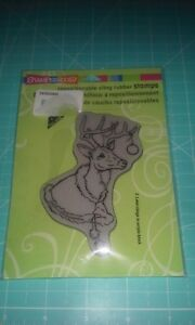 Stampendous cling rubber stamp Dee stole with ornament