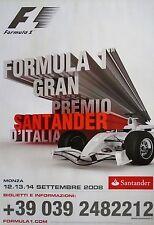 F1 MONZA GRAN PREMIO DI ITALIANO Vettel 2008 originale poster 95cm x 67cm