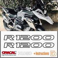2x R1200 Black BMW R 1200 GS 13-17 LC ADESIVI PEGATINA STICKERS AUTOCOLLANT