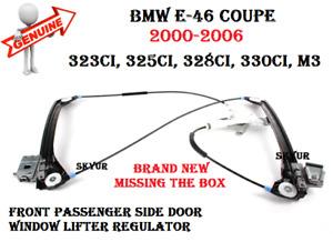 BMW 2000-2006 E46 Coupe Front Passengers Door Window Lifter Regulator GENUINE