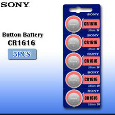 5 x SONY CR1616 batteries Lithium Power 3V Coin Cell BR1616 DL1616 Pack 1