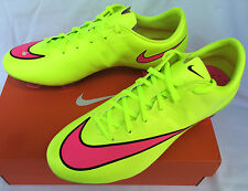 Nike Mercurial Veloce II FG 651618-760 Volt Soccer Boots Cleats Shoes Men's 7.5