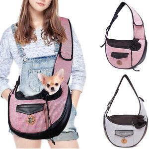 Pet Dog Cat Puppy Carrier Bag Travel Tote Sling Soft Outdoor Shoulder Chest Bag